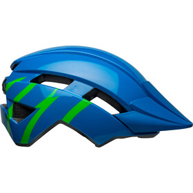 Bell Sidetrack II Helm Jugend strike gloss blue/green